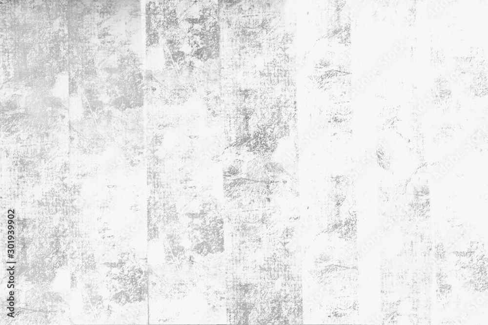Fototapety, obrazy: Concrete wall white grey color for background. Old grunge textures with scratches and cracks. White painted cement wall texture.