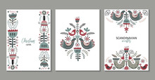 Vector Set Of Greeting Cards, ...