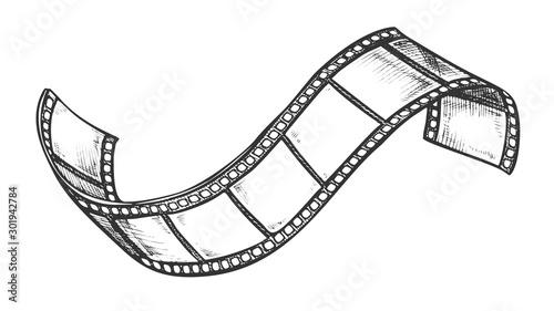 Photo Filmstrip Roll For Cinema Projector Retro Vector