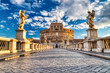 canvas print picture Saint Angelo Castle on a Sunny Day, Castel Sant Angelo in Rome