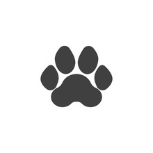 Tiger Paw Print Vector Icon. F...