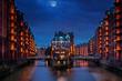 canvas print picture - Hamburg Speicherstadt