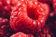 Raspberries Macro Close Up