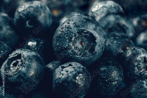 Blueberries Close Up - 301946175
