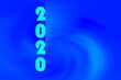 canvas print picture - Beautiful New Year greeting card in blue color tone
