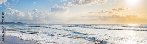 Panorama am Meer mit Blick auf Elba Tablou Canvas