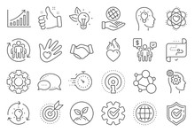 Core Values Line Icons. Integr...