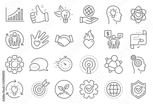 Fotomural Core values line icons