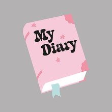My Dear Diary Cartoon Vector I...