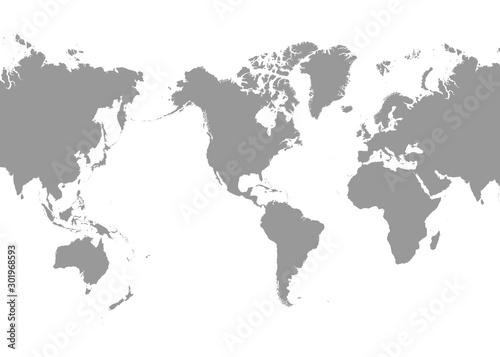 Obraz na płótnie World Map - America in center