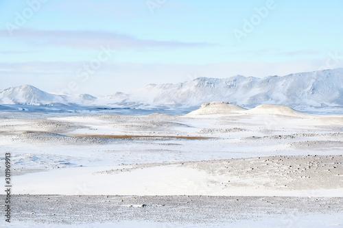 Keuken foto achterwand Lichtblauw winter landscape with snow