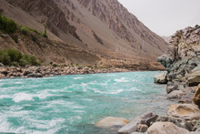 Zanskar River Flowing Through ...