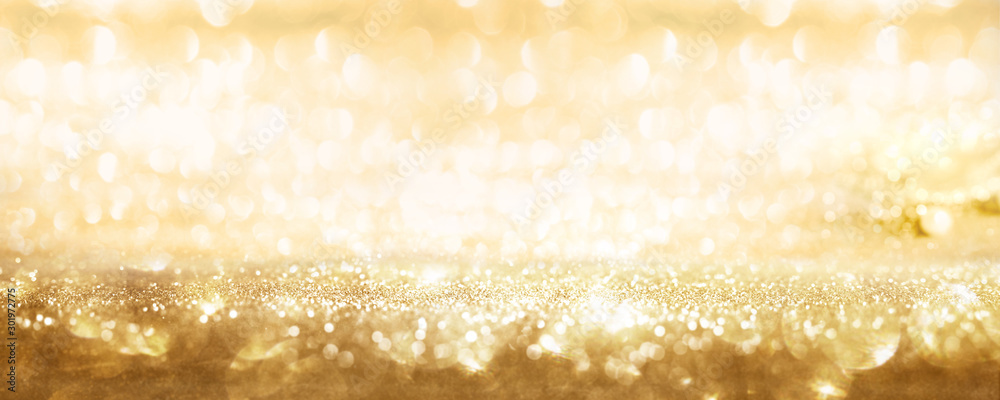 Fototapety, obrazy: Golden sparkling party background