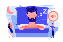 Businessman Sleeping In Bed An...