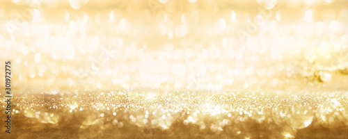 Obraz Golden sparkling party background - fototapety do salonu