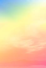 Soft Cloud Sky Subtle Background Pastel Gradient Color For Sky Cloud Nature Abstract Background .