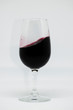 Red wine in glass cup. Tempranillo grape variety and Cabernet sauvignon. Wine made in Spain