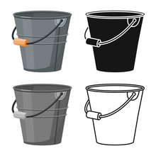 Vector Illustration Of Bucketf...