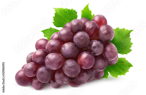 Canvas Print Isolated grapes bunch