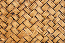 Closed Up Of Wood Weave Textur...