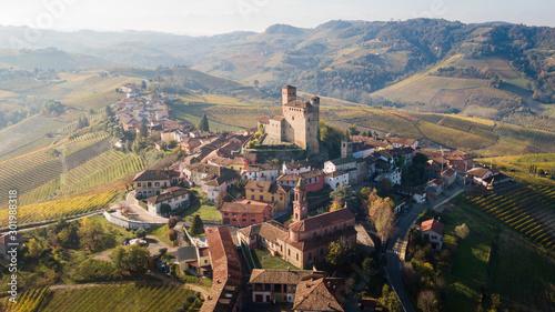 Castello di Serralunga d'Alba in autunno Canvas