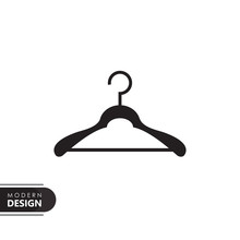 Cloth Hanger Black Solid Icon ...