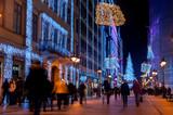 Fototapeta Londyn - Świąteczna ulica