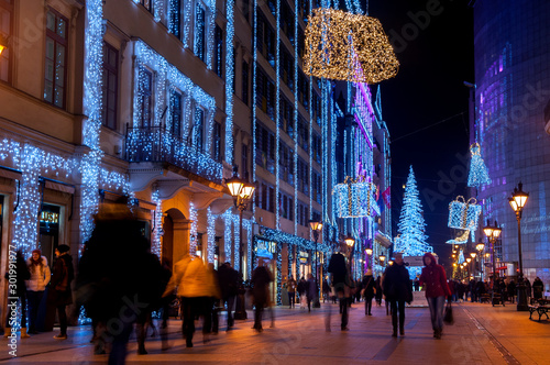 Obraz Świąteczna ulica - fototapety do salonu