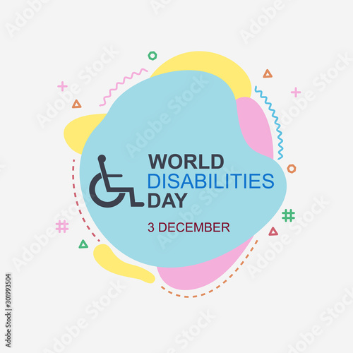 Photo sur Aluminium Positive Typography International Day of Person with Disabilities. Vector Illustration.