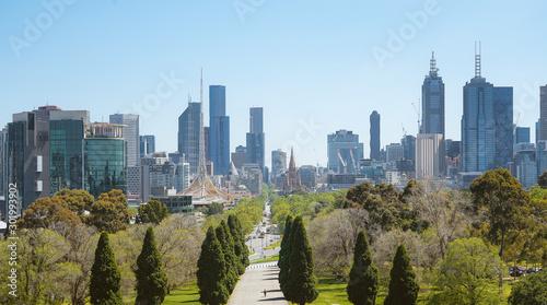 Photo  Melbourne cityscape panorama view