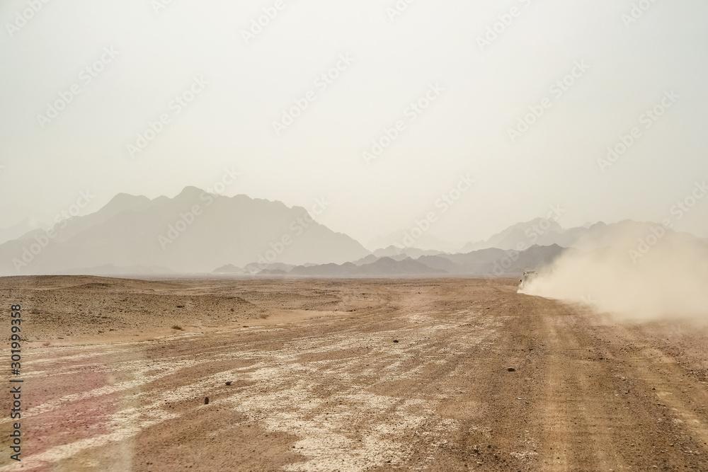 Fototapeta Trip to the Oriental desert Egypt near Safaga, Africa