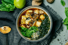 Fresh Vegetarian Miso Soup Wit...