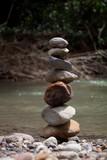 Fototapeta Kamienie - Stones in water