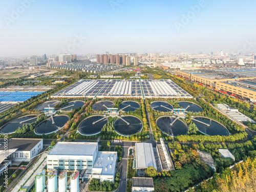 Fotomural  Sewage treatment plants and solar power plants