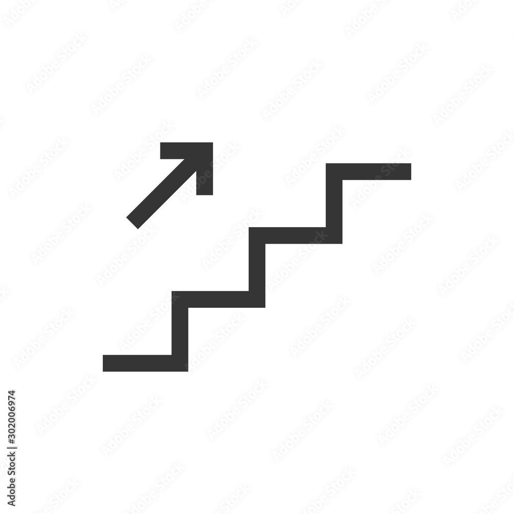 Fototapeta Stairs Up Icon Vector Illustration