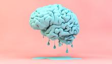 Melting Brain Concept
