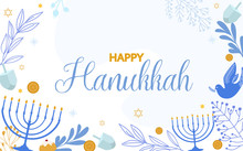 Happy Hanukkah Illustration, J...