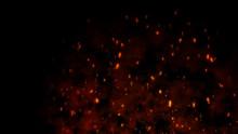 Burning Red Hot Flying Sparks ...