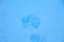 バスケットボールの跡