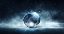 Glass Bowl. Abstract Futuristi...
