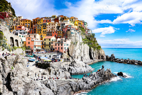 Exploring the coastal village of Manarola,  which is a small village in the Liguria region of Italy known as Cinque Terra