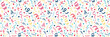 Carnival Party - concept of seamless pattern with confetti. Vector