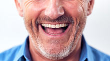 Close Up Of Mouth Of Laughing ...