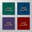Christmas Abstract Rectangle Cards or Banners Collection. Premium Backgrounds with Golden Greeting Sketches Layouts Set. Holly, Mistletoe, Snowman and Deer Head Illustrations. Soft Shadows.