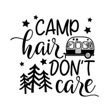 Camper Hair Don't Care Vector ...