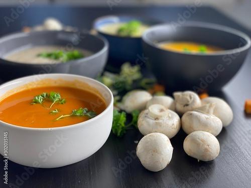 Photo  Healthy fresh bowl soup