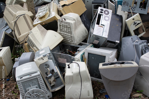 Photo  Computers waste