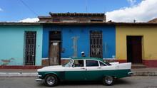Old Classic Car On Cuba