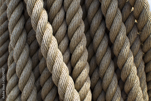 Photographie Vintage rope on a ship.