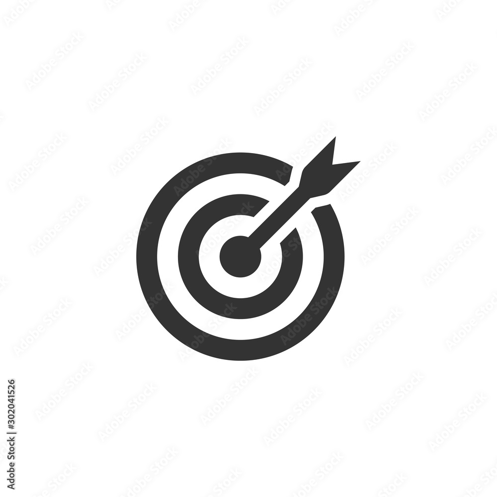 Fototapety, obrazy: Target icon. Target symbol with arrow isolated on white background. Vector EPS 10